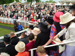 Spectators viewing the Parade Ring Source:© VisitBritain / Grant Pritchard