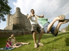Family enjoying a day out at Rochester Castle Source:© Britainonview / Daniel Bosworth / Kent Tourism Alliance