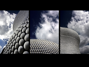 Three shots of the metallic exterior of Selfridges Source:© Foxy McSlick, Flickr