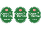 Green Tourism Business Scheme Bronze, Sliver and Gold logos