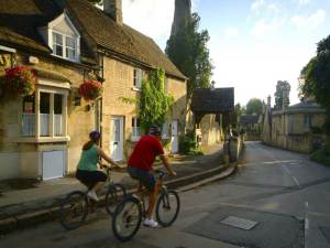 Cycling in the picturesque village of Ketton © Britainonview / Tony Pleavin Source:Vbimages - 21984453