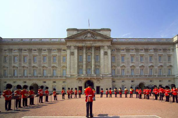 Band performing during The Changing of the Guard ceremony taking place in the courtyard of Buckingham Palace Source:© VisitBritain / Pawel Libera