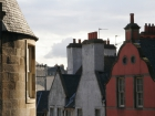 Victoria Street rooftops displaying Edinburgh's rich history in a variety of architechtural styles, Edinburgh, Scotland © Britainonview / Natalie Pecht Source:VBimages - 21975360