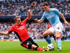 Manchester City's Gareth Barry and Blackburn Rovers' Phil Jones (L) Source:Action Images / Jason Cairnduff