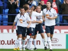 Robbie Blake celebrates his goal for 2-2 with Kevin Davies Source:Action Images / Paul Thomas